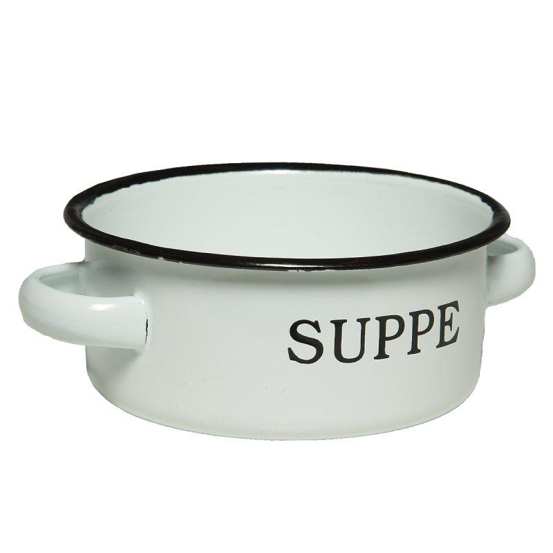 Enamel Soup Dish 14cm