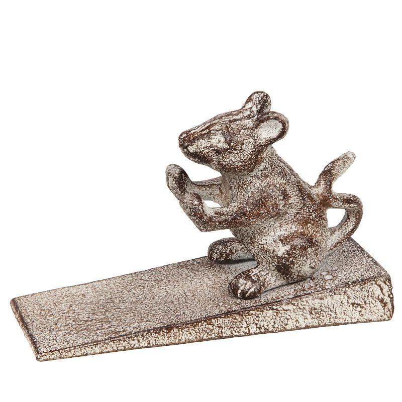 Cast Iron Door Wedge - Mouse