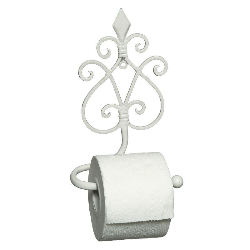 Hanging White Toilet Roll Holder