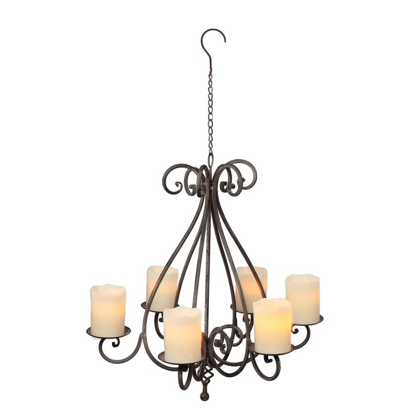 Hanging Candleabra - Antq Grey 58cm