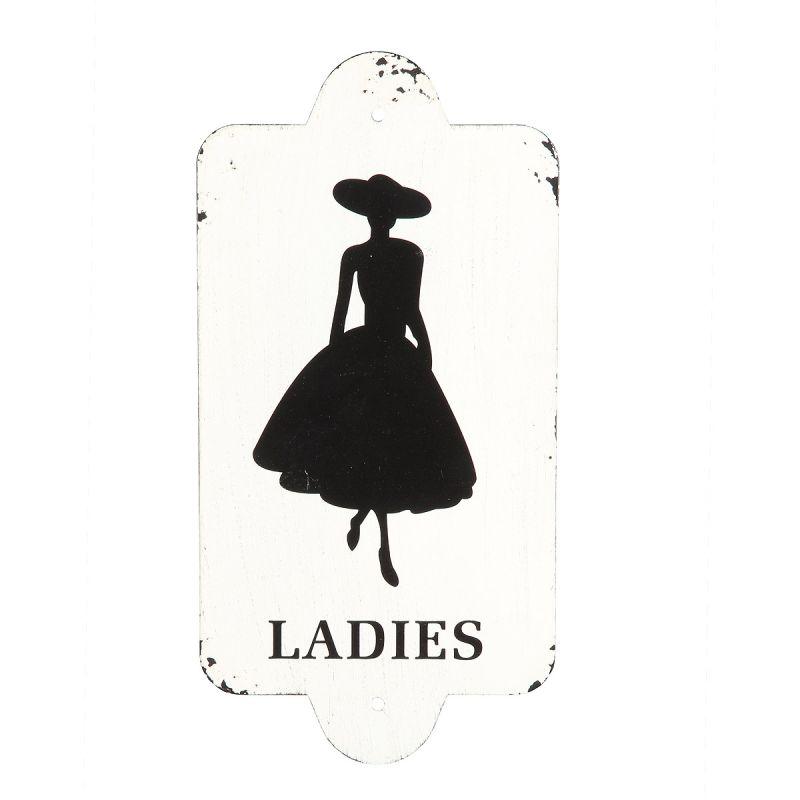 Metal Plaque - Ladies 28x14cm