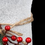 Christmas Glass with red Berries -square