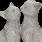 Grey Cat Pair 22cm
