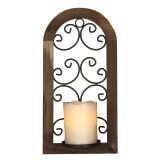 Burnt Wood/Iron Candle Sconce