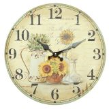 Sunflower Wall Clock 28cm
