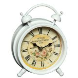 Metal Table Clock - Rose 16cm