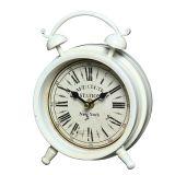 Metal Table Clock - White 16cm