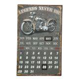 Metal Calender - Biker 25x40cm