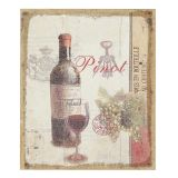 Flax Picture - Pinot Wine 30x25cm