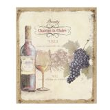 Flax Picture - Chateau Wine 30x25cm