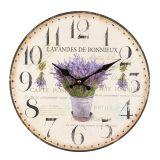 Lavender Wall Clock 28cm