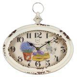 Metal Lavender Wall Clock 28cm