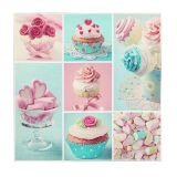 Cup Cake Canvass 50cm