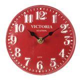 Standing Metal Clock - red 15cm