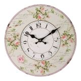 Rose Wall Clock 28cm