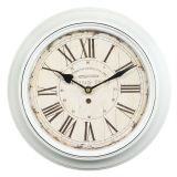 Metal Wall Clock - White 30cm