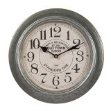 Metal Wall Clock - Silver 30cm