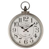 Metal Wall Clock Silver 35cm