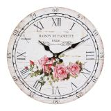 Wall Clock Rose 28cm