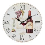 Wall Clock Wine 28cm