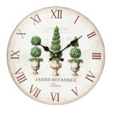 Wall Clock Plants 28cm
