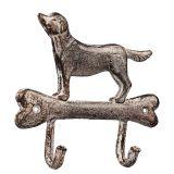 Double Cast Iron Hooks - Dog