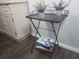 Folding Table - Antq Brown 69cm