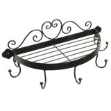 Round Shelf with Hooks 38cm