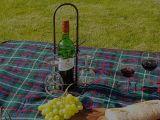 Bottle / Glass Holder 40cm - Antq Brown