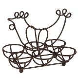 Iron Egg Holder - Antq Brown