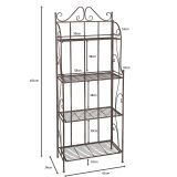 Shelf with 4 Tiers - Antq Brown 161cm