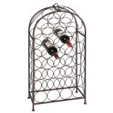 Bottle Rack 29 Btl - Antq Brown